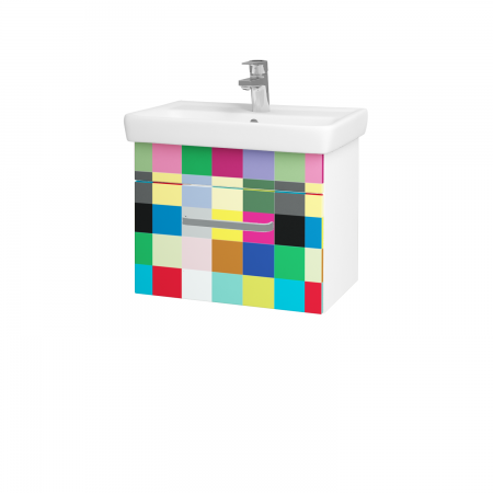 Dřevojas - Koupelnová skříň SOLO SZZ 55 - N01 Bílá lesk / Úchytka T01 / IND Individual (20951A)
