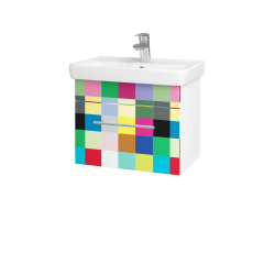 Dřevojas - Koupelnová skříň SOLO SZZ 55 - N01 Bílá lesk / Úchytka T02 / IND Individual (20951B)