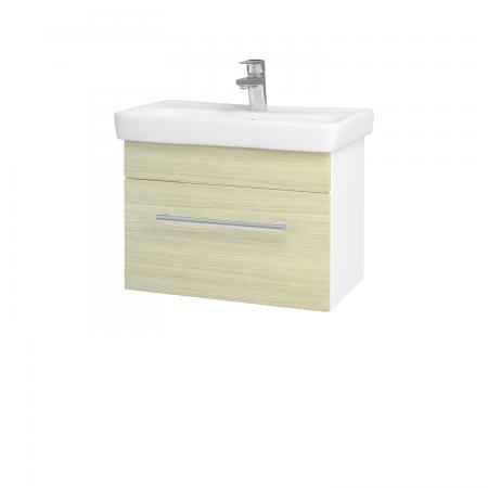 Dřevojas - Koupelnová skříň SOLO SZZ 60 - N01 Bílá lesk / Úchytka T03 / D04 Dub (21880C)