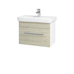 Dřevojas - Koupelnová skříň SOLO SZZ 60 - N01 Bílá lesk / Úchytka T01 / D05 Oregon (23686A)