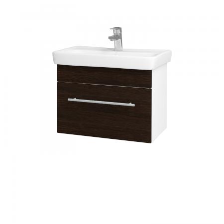Dřevojas - Koupelnová skříň SOLO SZZ 60 - N01 Bílá lesk / Úchytka T02 / D08 Wenge (21200B)