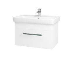 Dřevojas - Koupelnová skříň Q UNO SZZ 70 - N01 Bílá lesk / Úchytka T01 / L01 Bílá vysoký lesk (20029A)