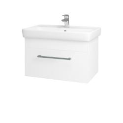 Dřevojas - Koupelnová skříň Q UNO SZZ 70 - N01 Bílá lesk / Úchytka T03 / L01 Bílá vysoký lesk (20029C)