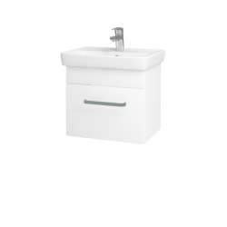 Dřevojas - Koupelnová skříň SOLO SZZ 50 - N01 Bílá lesk / Úchytka T01 / L01 Bílá vysoký lesk (21811A)
