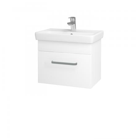 Dřevojas - Koupelnová skříň SOLO SZZ 55 - N01 Bílá lesk / Úchytka T01 / L01 Bílá vysoký lesk (21828A)