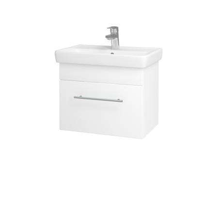 Dřevojas - Koupelnová skříň SOLO SZZ 55 - N01 Bílá lesk / Úchytka T02 / L01 Bílá vysoký lesk (21828B)