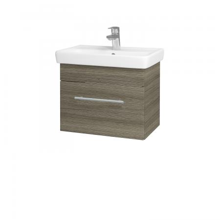 Dřevojas - Koupelnová skříň SOLO SZZ 55 - D03 Cafe / Úchytka T02 / D03 Cafe (21279B)