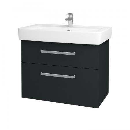 Dřevojas - Koupelnová skříň Q MAX SZZ2 80 - L03 Antracit vysoký lesk / Úchytka T01 / L03 Antracit vysoký lesk (60391A)