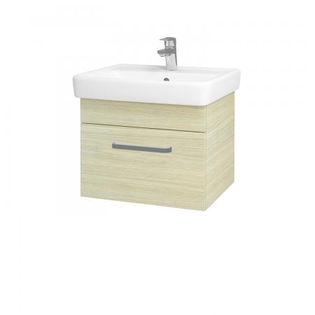 Dřevojas - Koupelnová skříň Q UNO SZZ 55 - D04 Dub / Úchytka T01 / D04 Dub (28223A)