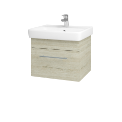 Dřevojas - Koupelnová skříň Q UNO SZZ 55 - D05 Oregon / Úchytka T02 / D05 Oregon (28230B)