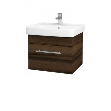 Dřevojas - Koupelnová skříň Q UNO SZZ 55 - D06 Ořech / Úchytka T02 / D06 Ořech (28247B)
