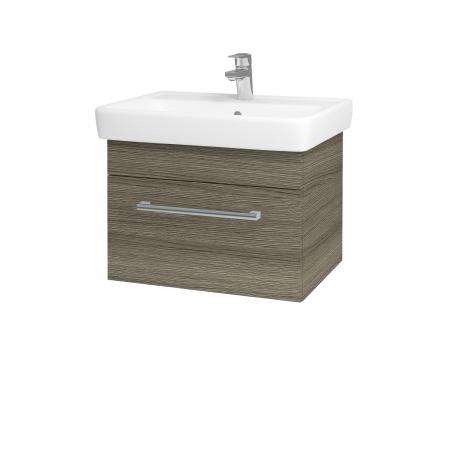 Dřevojas - Koupelnová skříň Q UNO SZZ 60 - D03 Cafe / Úchytka T03 / D03 Cafe (28346C)