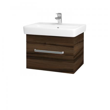 Dřevojas - Koupelnová skříň Q UNO SZZ 60 - D06 Ořech / Úchytka T01 / D06 Ořech (28377A)