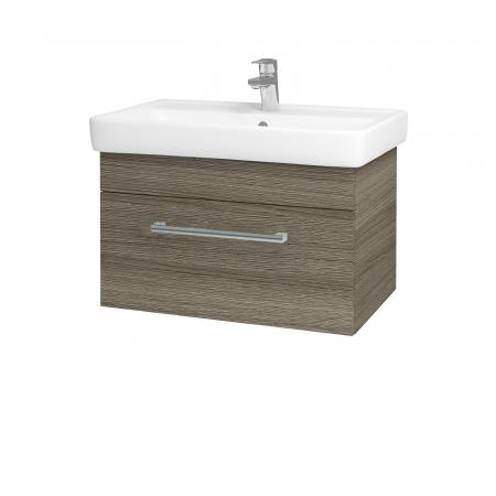 Dřevojas - Koupelnová skříň Q UNO SZZ 70 - D03 Cafe / Úchytka T03 / D03 Cafe (28407C)
