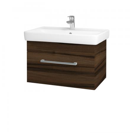 Dřevojas - Koupelnová skříň Q UNO SZZ 70 - D06 Ořech / Úchytka T03 / D06 Ořech (28438C)