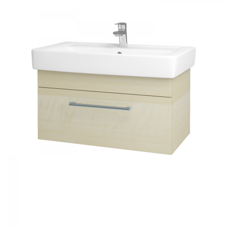 Dřevojas - Koupelnová skříň Q UNO SZZ 80 - D02 Bříza / Úchytka T03 / D02 Bříza (28506C)