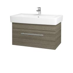 Dřevojas - Koupelnová skříň Q UNO SZZ 80 - D03 Cafe / Úchytka T02 / D03 Cafe (28469B)
