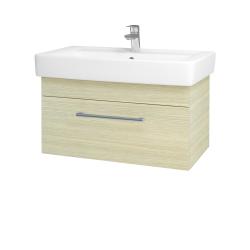 Dřevojas - Koupelnová skříň Q UNO SZZ 80 - D04 Dub / Úchytka T03 / D04 Dub (28476C)