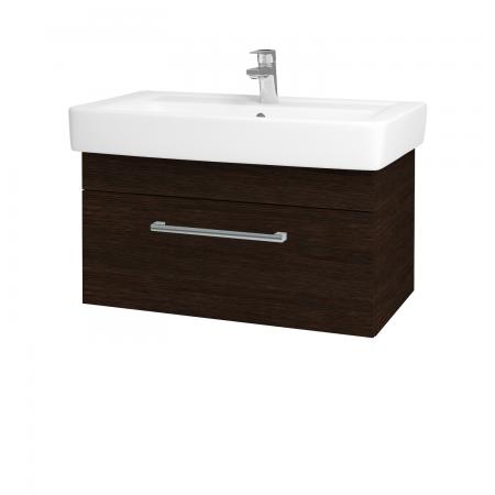 Dřevojas - Koupelnová skříň Q UNO SZZ 80 - D08 Wenge / Úchytka T03 / D08 Wenge (28513C)