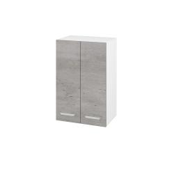 Dřevojas - Skříň horní DOS SYD2 50 - N01 Bílá lesk / Úchytka T01 / D01 Beton (62746A)