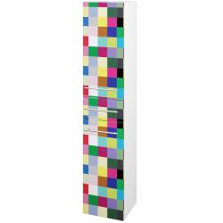 Dřevojas - Skříň vysoká DOS SVD2Z 35 - N01 Bílá lesk / Úchytka T02 / IND Individual / Levé (66027B)