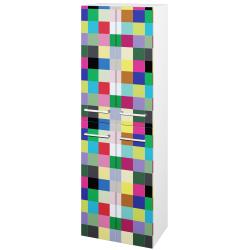 Dřevojas - Skříň vysoká DOS SVD4 50 - N01 Bílá lesk / Úchytka T03 / IND Individual (66058C)