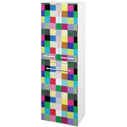 Dřevojas - Skříň vysoká DOS SVD3K 50 - N01 Bílá lesk / Úchytka T03 / IND Individual (66065C)