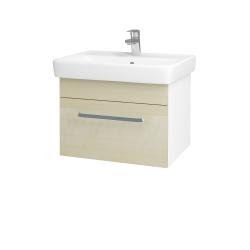 Dřevojas - Koupelnová skříň Q UNO SZZ 60 - N01 Bílá lesk / Úchytka T01 / D02 Bříza (20982A)