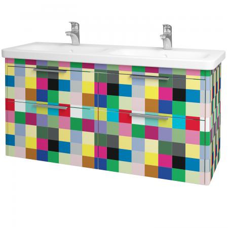 Dřevojas - Koupelnová skříň ENZO SZZ4 130 - IND Individual / IND Individual (130176)