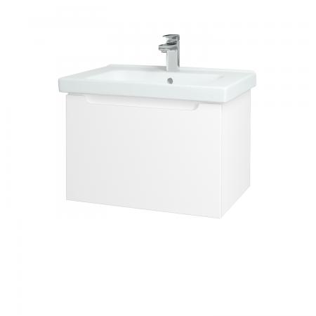Dřevojas - Koupelnová skříň COLOR SZZ 65 - N01 Bílá lesk / L01 Bílá vysoký lesk (122959)