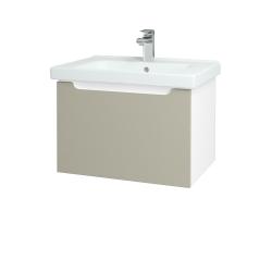 Dřevojas - Koupelnová skříň COLOR SZZ 65 - N01 Bílá lesk / L04 Béžová vysoký lesk (122973)