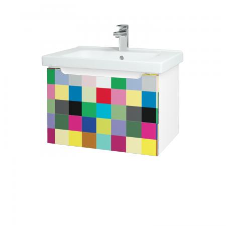 Dřevojas - Koupelnová skříň COLOR SZZ 65 - N01 Bílá lesk / IND Individual (122980)