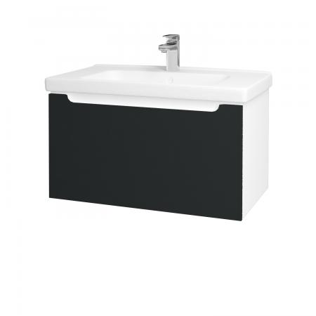 Dřevojas - Koupelnová skříň COLOR SZZ 80 - N01 Bílá lesk / L03 Antracit vysoký lesk (123000)