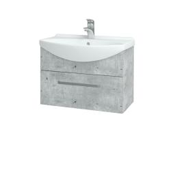 Dřevojas - Koupelnová skříň TAKE IT SZZ 65 - D01 Beton / Úchytka T01 / D01 Beton (133689A)