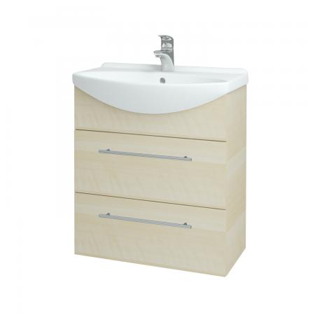Dřevojas - Koupelnová skříň TAKE IT SZZ2 65 - D02 Bříza / Úchytka T02 / D02 Bříza (133764B)