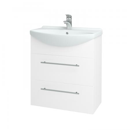 Dřevojas - Koupelnová skříň TAKE IT SZZ2 65 - N01 Bílá lesk / Úchytka T02 / N01 Bílá lesk (134433B)