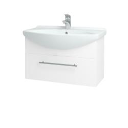 Dřevojas - Koupelnová skříň TAKE IT SZZ 75 - N01 Bílá lesk / Úchytka T02 / N01 Bílá lesk (134396B)