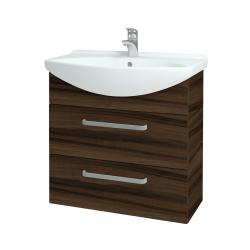 Dřevojas - Koupelnová skříň TAKE IT SZZ2 75 - D06 Ořech / Úchytka T01 / D06 Ořech (133948A)