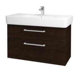 Dřevojas - Koupelnová skříň Q MAX SZZ2 100 - D08 Wenge / Úchytka T03 / D08 Wenge (132064C)