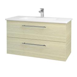 Dřevojas - Koupelnová skříň GIO SZZ2 100 - D04 Dub / Úchytka T02 / D04 Dub (130657B)