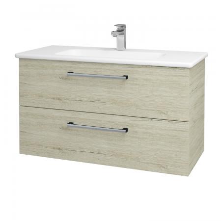 Dřevojas - Koupelnová skříň GIO SZZ2 100 - D05 Oregon / Úchytka T03 / D05 Oregon (130664C)