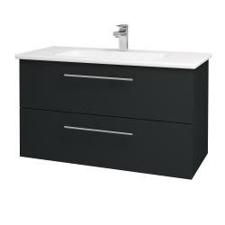 Dřevojas - Koupelnová skříň GIO SZZ2 100 - L03 Antracit vysoký lesk / Úchytka T02 / L03 Antracit vysoký lesk (130824B)