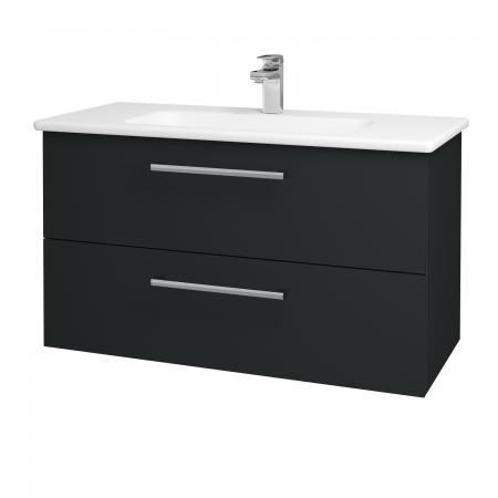 Dřevojas - Koupelnová skříň GIO SZZ2 100 - L03 Antracit vysoký lesk / Úchytka T03 / L03 Antracit vysoký lesk (130824C)