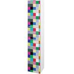 Dřevojas - Skříň vysoká DOS SVD2Z2 35 - N01 Bílá lesk / Úchytka T02 / IND Individual / Levé (132385B)