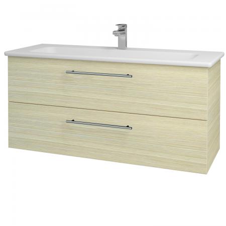 Dřevojas - Koupelnová skříň GIO SZZ2 120 - D04 Dub / Úchytka T02 / D04 Dub (130060B)