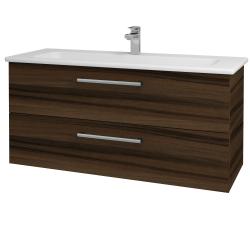 Dřevojas - Koupelnová skříň GIO SZZ2 120 - D06 Ořech / Úchytka T03 / D06 Ořech (130084C)