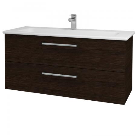 Dřevojas - Koupelnová skříň GIO SZZ2 120 - D08 Wenge / Úchytka T03 / D08 Wenge (130756C)
