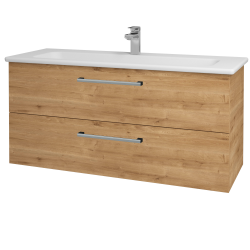Dřevojas - Koupelnová skříň GIO SZZ2 120 - D09 Arlington / Úchytka T03 / D09 Arlington (130107C)