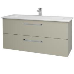 Dřevojas - Koupelnová skříň GIO SZZ2 120 - L04 Béžová vysoký lesk / Úchytka T03 / L04 Béžová vysoký lesk (130152C)
