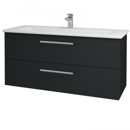 Dřevojas - Koupelnová skříň GIO SZZ2 120 - L03 Antracit vysoký lesk / Úchytka T03 / L03 Antracit vysoký lesk (130145C)